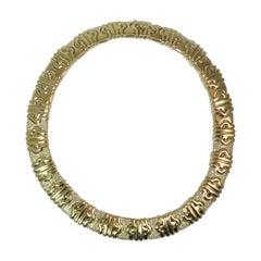 18 Karat Yellow Gold Diamond Choker Necklace