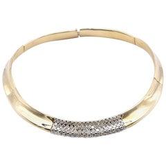 18 Karat Yellow Gold Diamond Collar Necklace