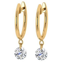 18kt Yellow Gold and Diamond Earring