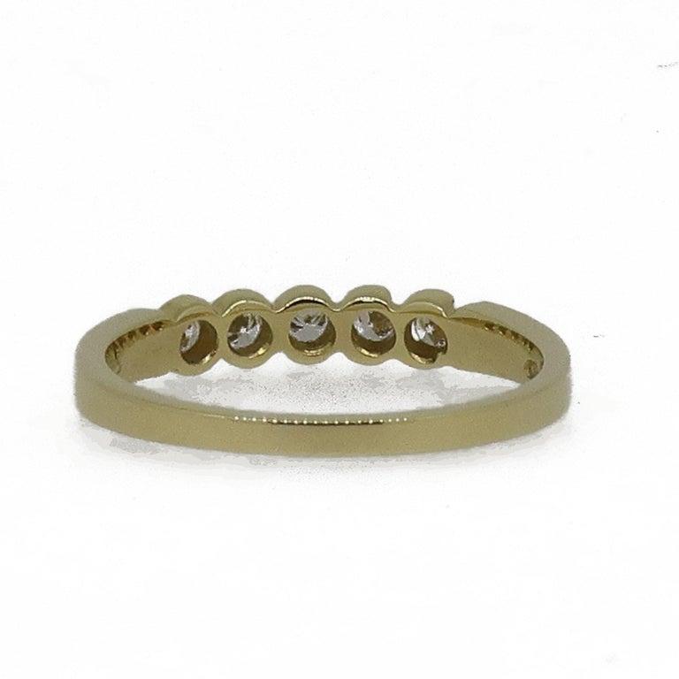 Edwardian 18 Karat Yellow Gold Diamond Eternity Band Ring For Sale