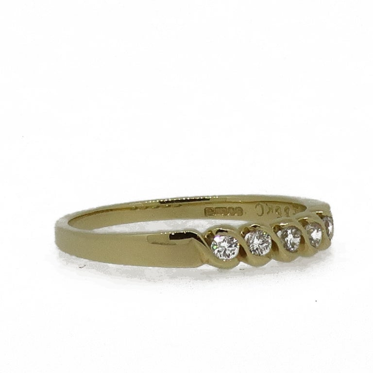 18 Karat Yellow Gold Diamond Eternity Band Ring In New Condition For Sale In East Grinstead, GB