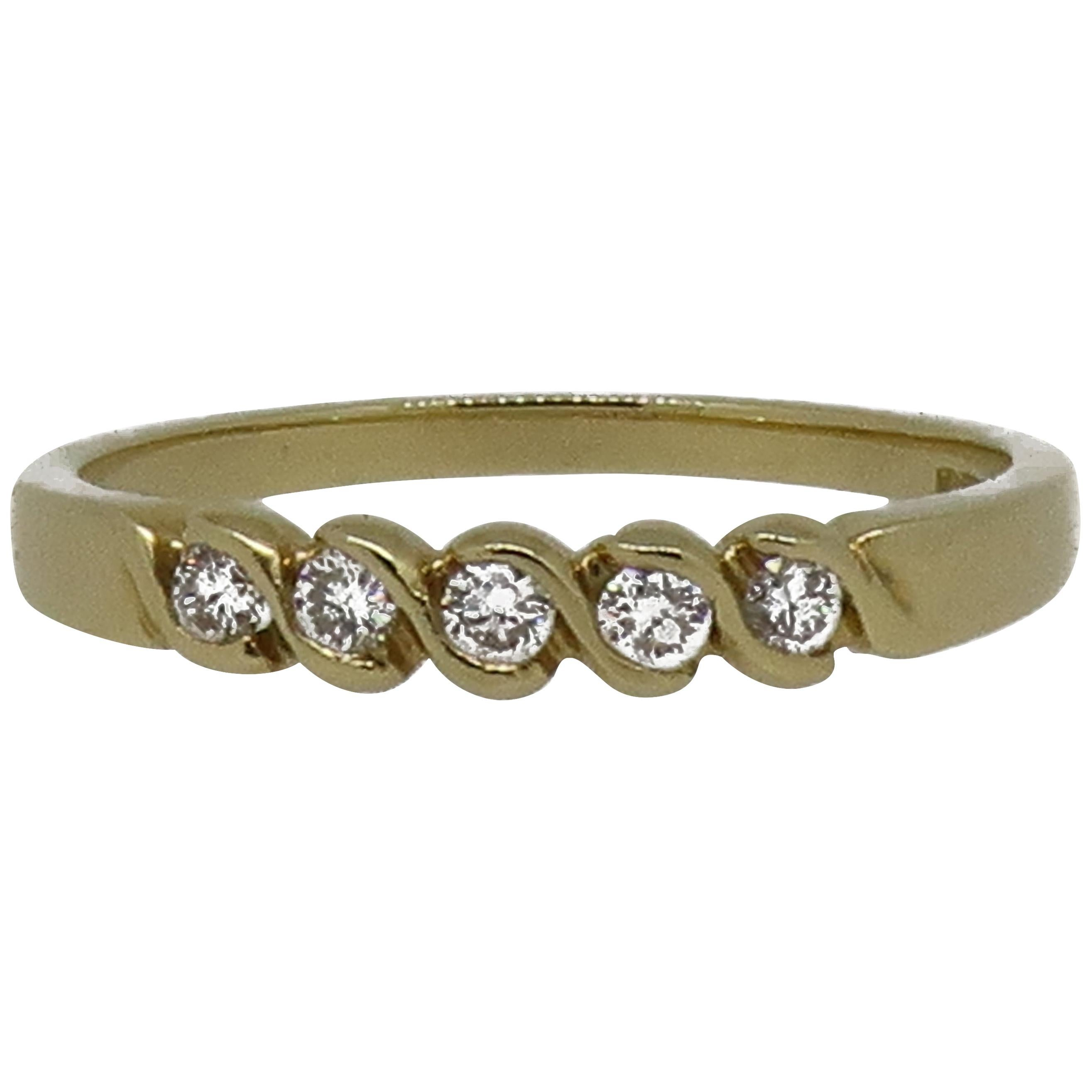 18 Karat Yellow Gold Diamond Eternity Band Ring