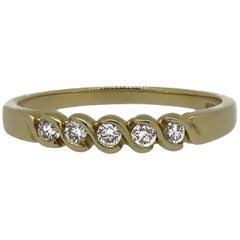 18 Karat Yellow Gold Diamond Eternity Band Ring