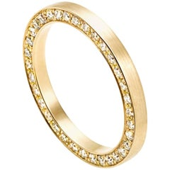 18 Karat Yellow Gold Diamond Full Eternity Ring #9-#12