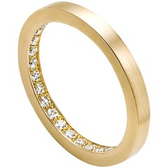 18 Karat Yellow Gold Diamond Full Eternity Ring #9-#12