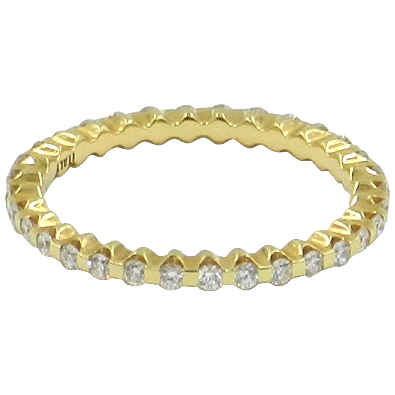 18 Karat Yellow Gold Diamond Garavelli Ring