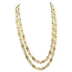 18 Karat Yellow Gold Diamond Grain de Riz Long Necklace by Van Cleef & Arpels