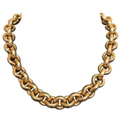 18 Karat Yellow Gold Diamond Necklace by Isabelle Fa