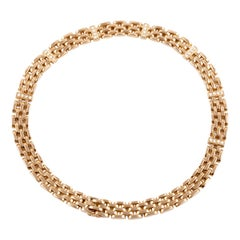 18 Karat Yellow Gold Diamond Necklace