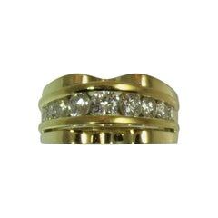 18 Karat Yellow Gold Diamond Ring by Kurt Wayne