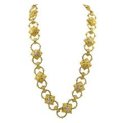 Doorknocker Diamond Link Convertible Necklace Belt