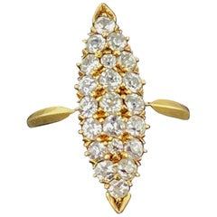 "18 Karat Yellow Gold Diamond ""Victorian"" Ring"