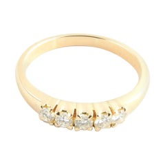 18 Karat Yellow Gold Diamond Wedding Band