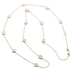18 Karat Yellow Gold Diamonds by the Yard Necklace