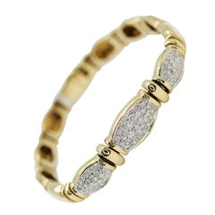 18 Karat Yellow Gold Diamonds Pave Bracelet, Containing 1.50 Carat