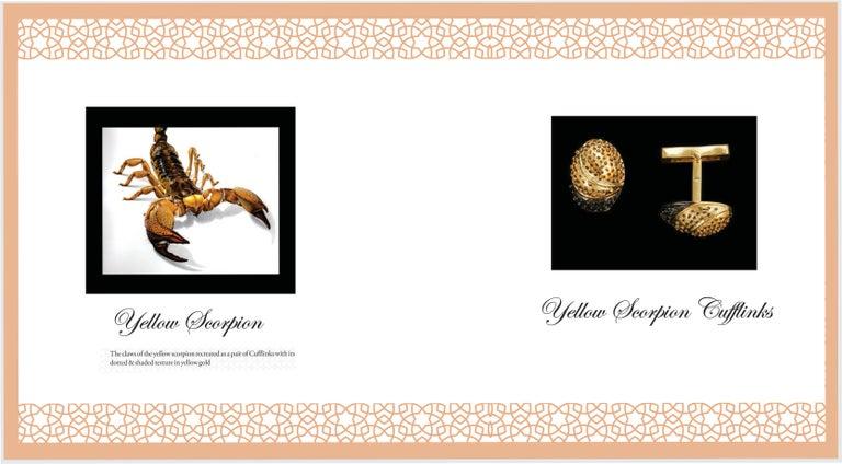 Men's 18 Karat Yellow Gold Yellow Scorpion Cufflinks For Sale