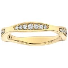 18 Karat Yellow Gold Donna Marquise Shape Diamond Ring '1/4 Carat'