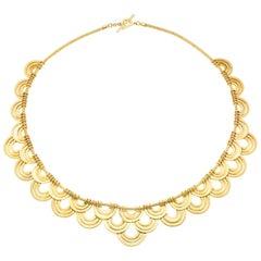 18 Karat Yellow Gold Duplex Necklace