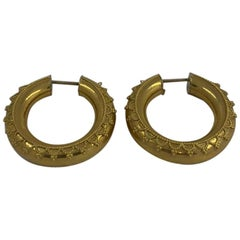 18 Karat Yellow Gold Earrings