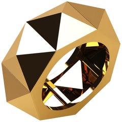 18 Karat Yellow Gold Eternity Pyramid Ring