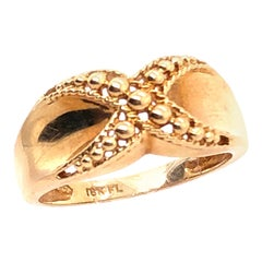 18 Karat Yellow Gold Fashion Ring X Design