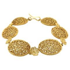 18 Karat Yellow Gold Filidoro Bracelet by Buccellati
