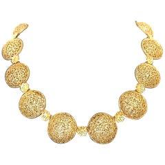 18 Karat Yellow Gold Filidoro Necklace by Buccellati