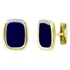 18 Karat Yellow Gold Fine Jewelry Statement Cufflinks