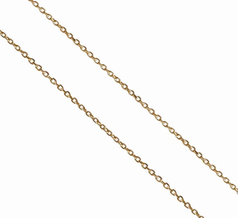 Fine solid 18Karat yellow gold chain. Ideal to wear with pendants. Weight: 1.66 g Length : 43.00 cm  Gauge:  0.7 mm Hallmark: London's Goldsmiths' Company –  Assay Office   You will receive your jewellery in a pouch and a box embossed with our logo.