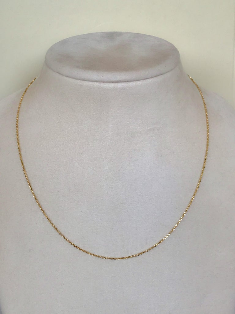 Contemporary 18 Karat Yellow Gold Fine Link Chain Necklace For Sale