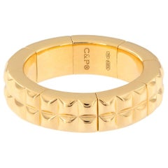 18 Karat Yellow Gold Flexible Band Ring