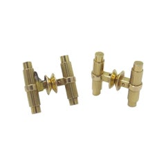 18 Karat Yellow Gold French Cufflinks