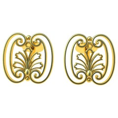 18 Karat Yellow Gold French Gate #1 Cufflinks