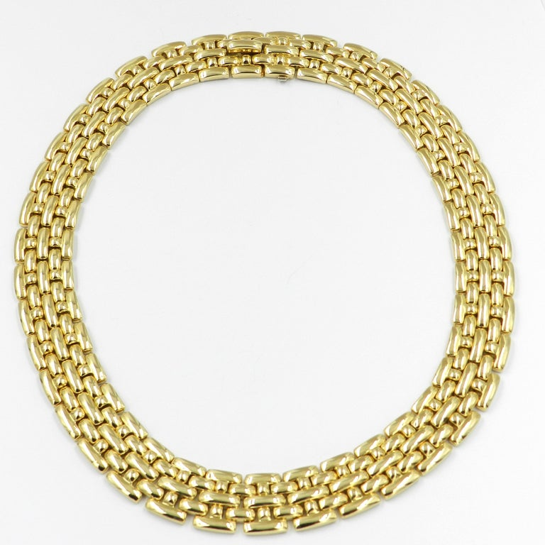 18 Karat Yellow Gold Garavelli Link Necklace For Sale 5