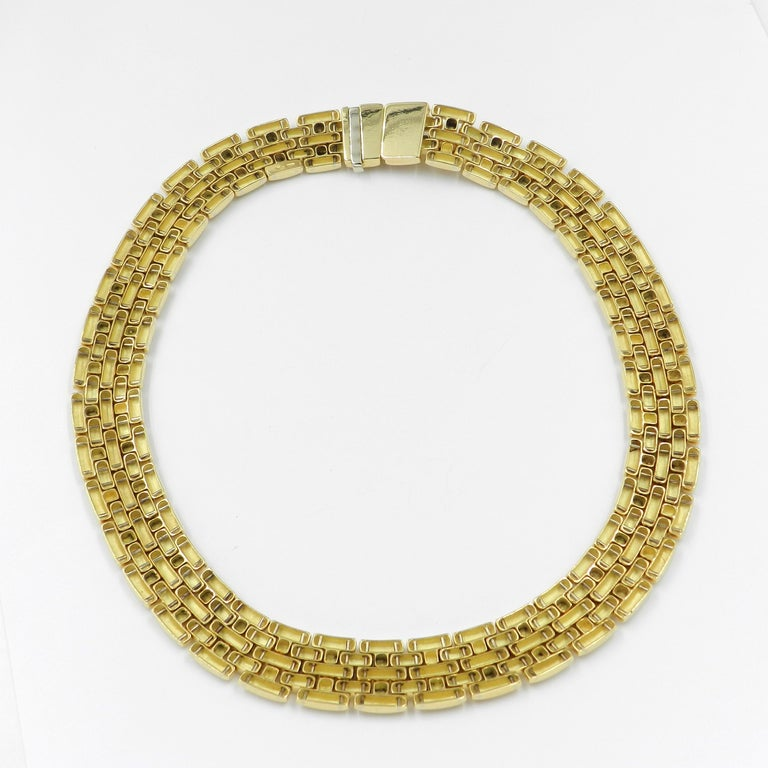 Women's 18 Karat Yellow Gold Garavelli Link Necklace For Sale