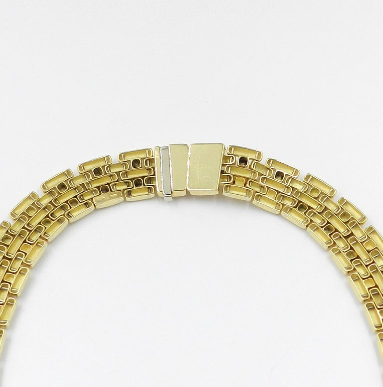18 Karat Yellow Gold Garavelli Link Necklace For Sale 1