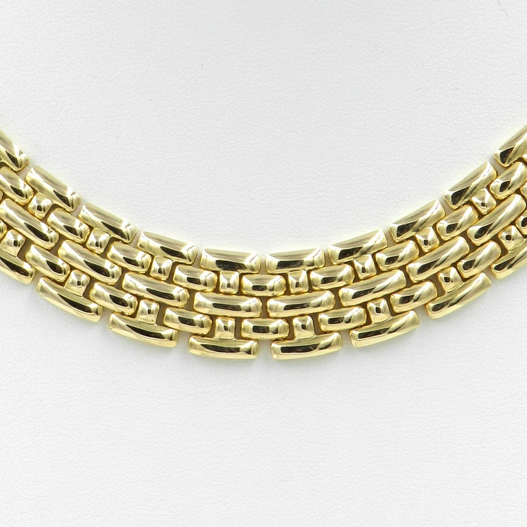 18 Karat Yellow Gold Garavelli Link Necklace For Sale 3