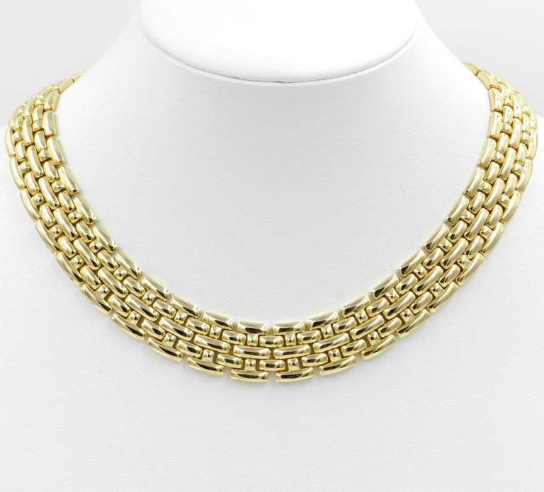 18 Karat Yellow Gold Garavelli Link Necklace For Sale 4