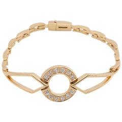 18 Karat Yellow Gold Gianni Caritá Diamond Circle Bracelet