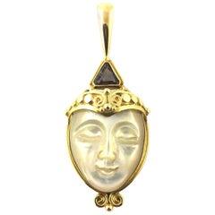 18 Karat Yellow Gold Goddess Pendant
