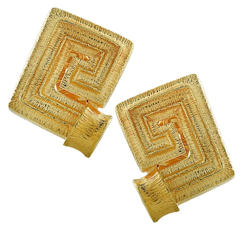 18 Karat Yellow Gold Greek Key Suite In Good Condition For Sale In Miami, FL