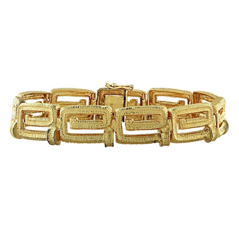 Women's 18 Karat Yellow Gold Greek Key Suite For Sale