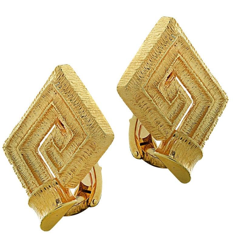18 Karat Yellow Gold Greek Key Suite For Sale 1