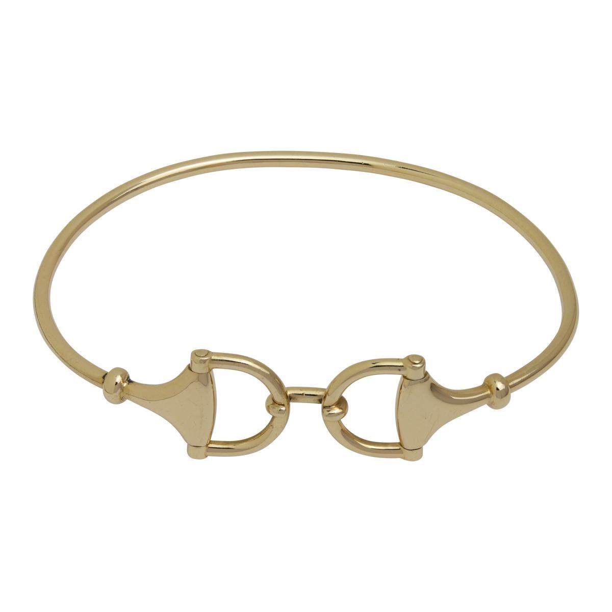 18 Karat Yellow Gold Gucci Horsebit Bangle