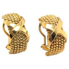18 Karat Yellow Gold Half-Hoop Earrings by Jean Schlumberger for Tiffany & Co.