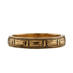Handcrafted Gold Sectional Men's Band