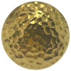18 Karat Yellow Gold Handmade Hammered Fashion Ring/ Cocktail Ring in Stock
