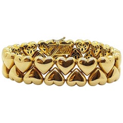"Roberto Coin 18 Karat Yellow Gold ""Heart Of Gold Bracelet"""
