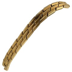 18 Karat Yellow Gold Heavy Ladies Panther Link Bracelet