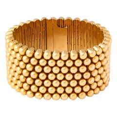 18 Karat Yellow Gold Italian Retro Bracelet